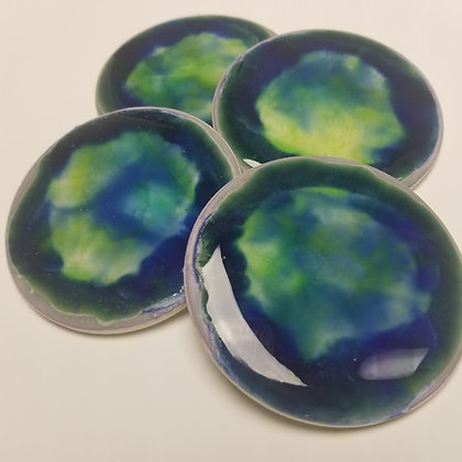 Glass Covered Coasters