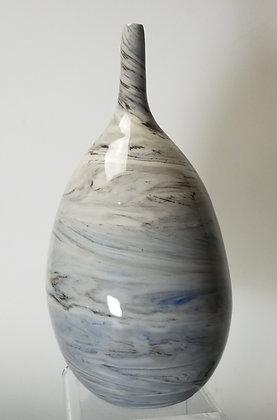 Agateware Porcelain Bud Vase w/ gold luster accent