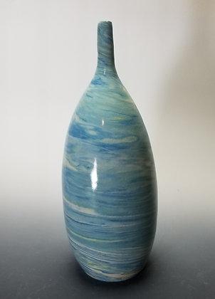 Blue and White Agateware Vase