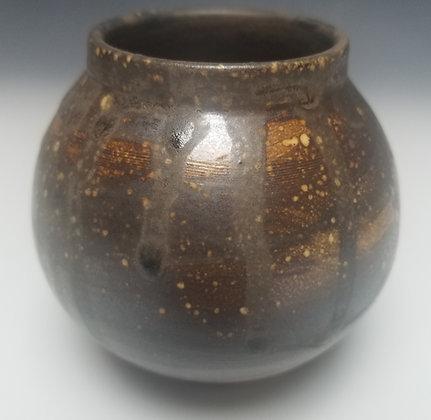 Deep Brown and Rust Moon Jar