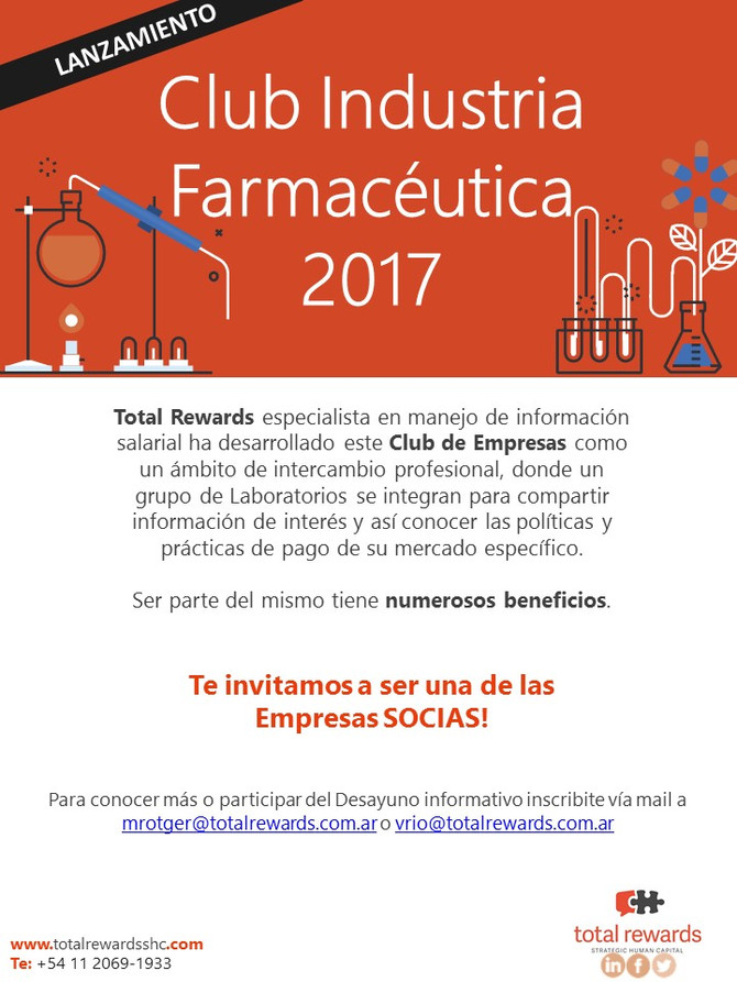 Invitación Club Industria Farmacéutica