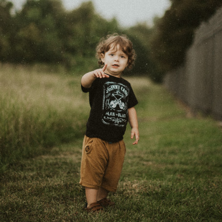 Dark & Moody Toddler Session