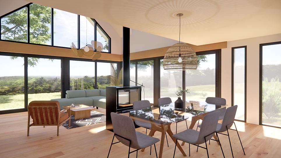 Séjour - architecture d'intérieur - concarneau - nolwenn suils porte