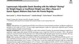 Worth reading | Research insights regarding Laparoscopic Adjustable Gastric Banding