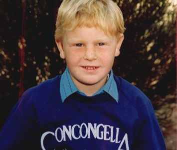 Local builder Ken Clark as a school boy at Concongella Primary