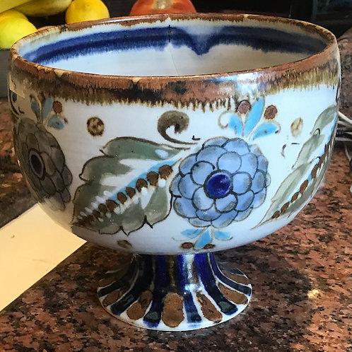 Ken Edwards pottery pedestal bowl
