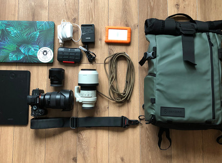 What's in my photography bag? - horse photography trip