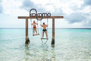 The famous swing at Kokomo beach