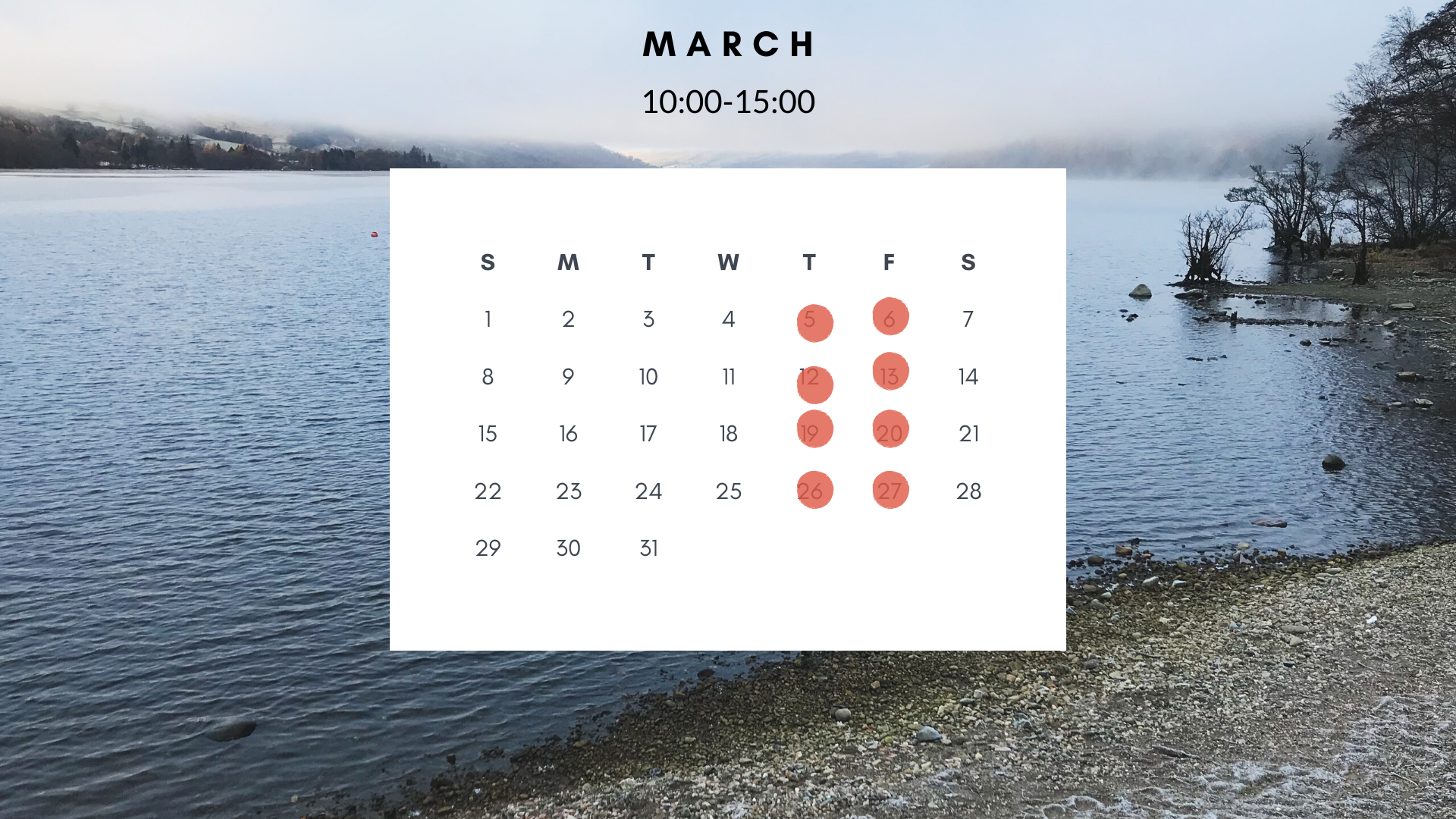 Dark Grey Random Photos Photo Calendar (
