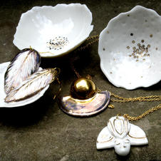 porcelain and gold lustre