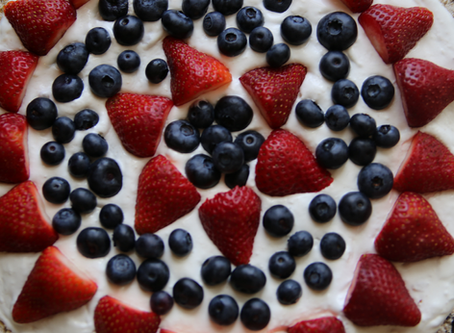 perfectly patriotic blueberry pizza