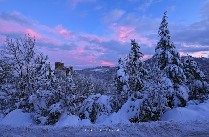l'aube d'un nouveau jour au château de Gropparello