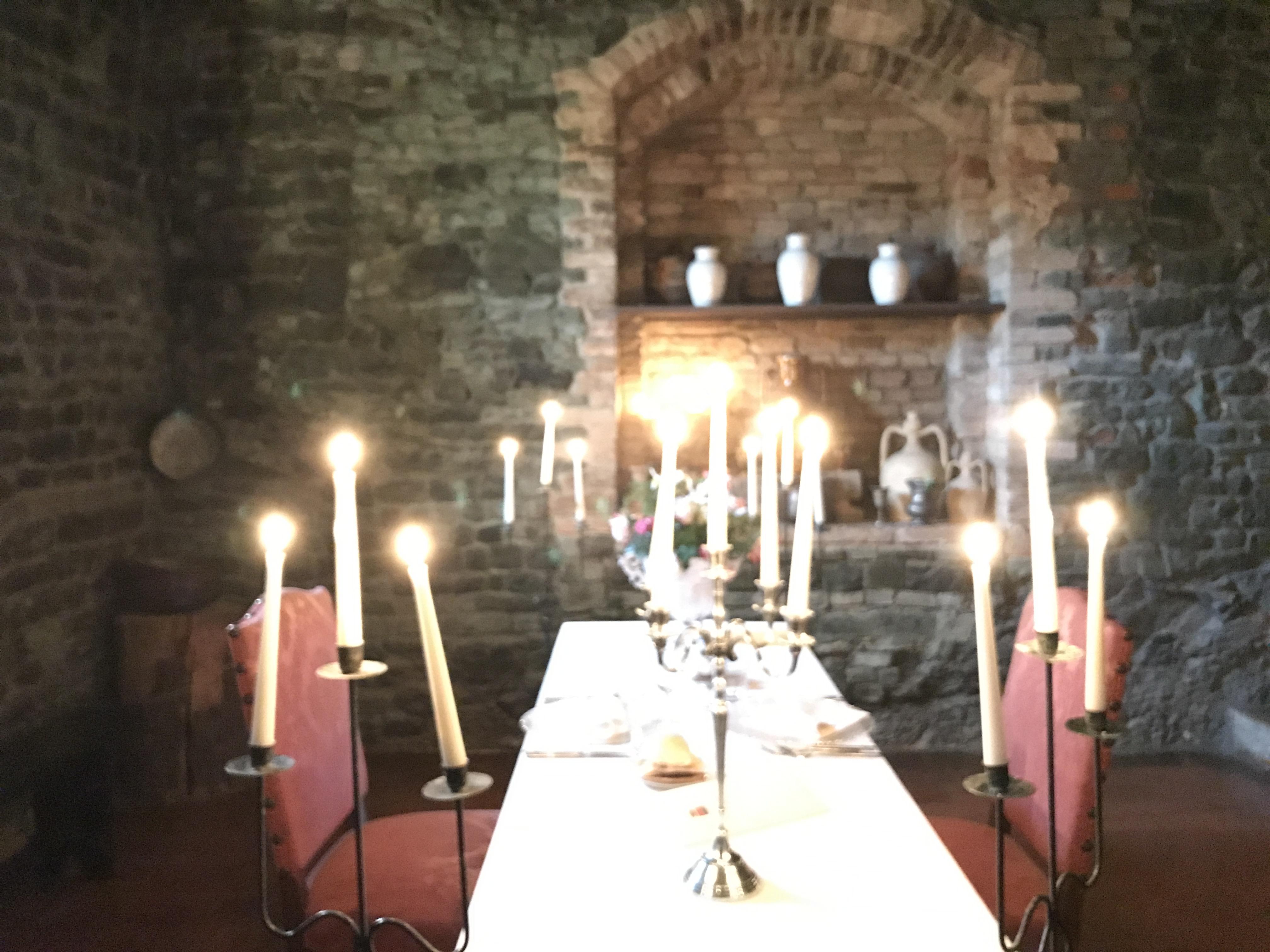 la cena per due al castello