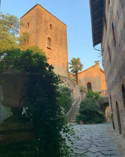 il tramonto al Castello