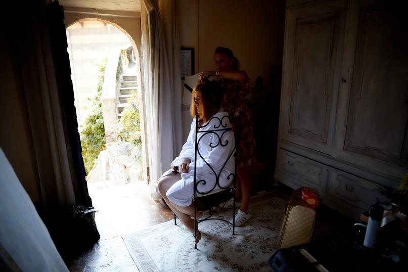 De bruid kan zich klaarmaken in de Bruidssuite