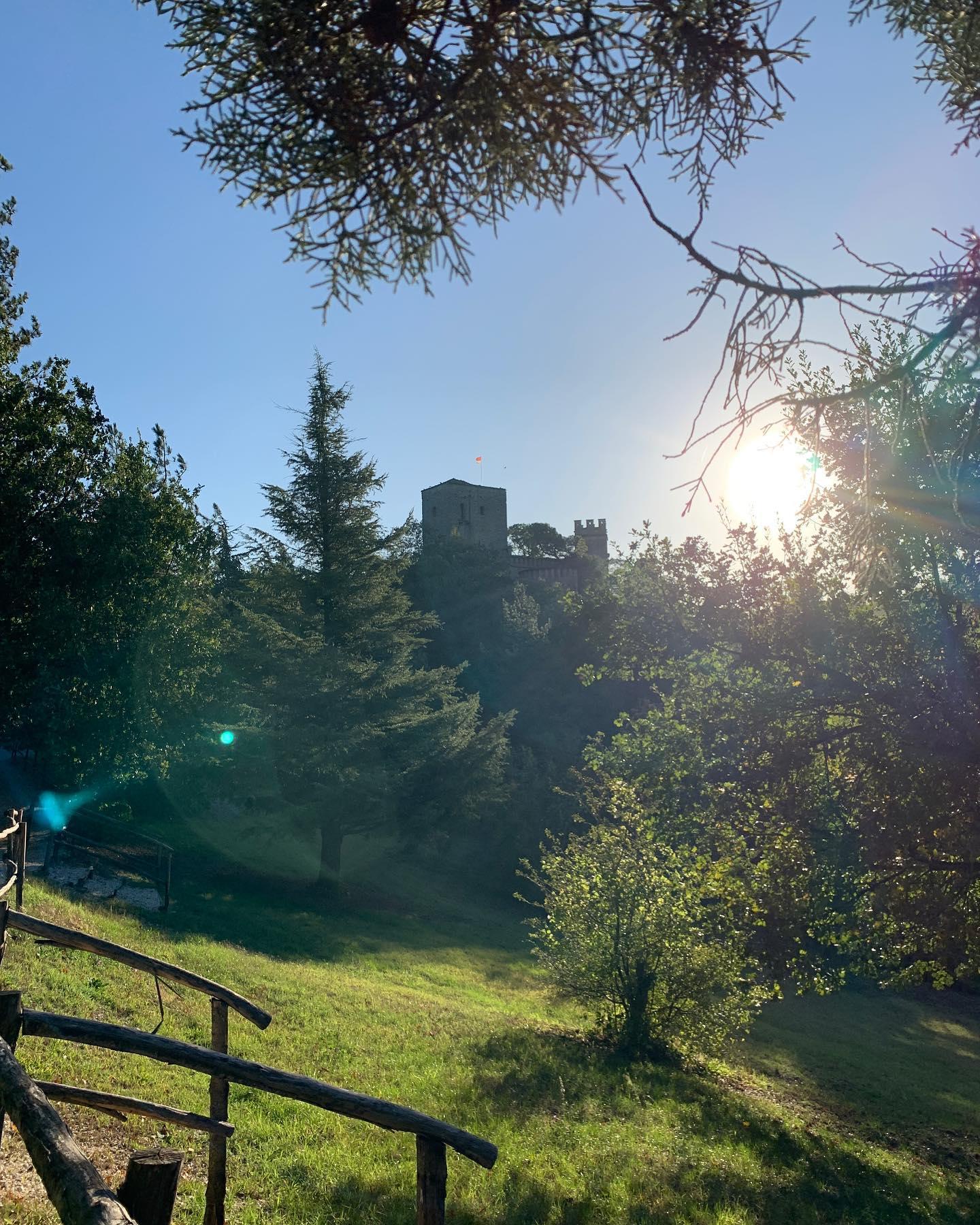 l'alba al Castello di Gropparello