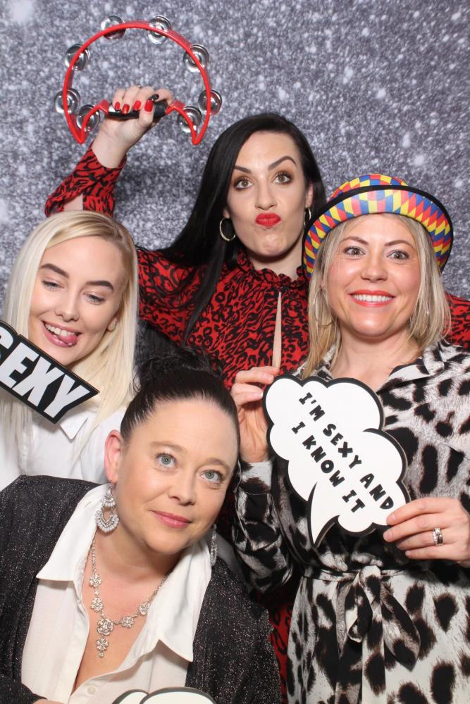 Girls Squad Having fun in the photobooth