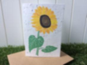 Plantable Sunflower Card