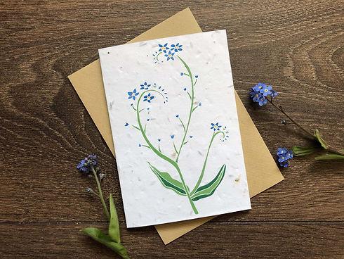 Forget me not plantable card | Charlie Collis Design.jpg