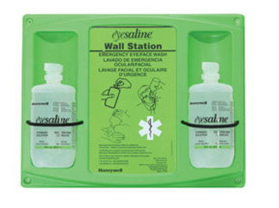Eyesaline Eye Wash Wall Station (Dual) 32 oz.