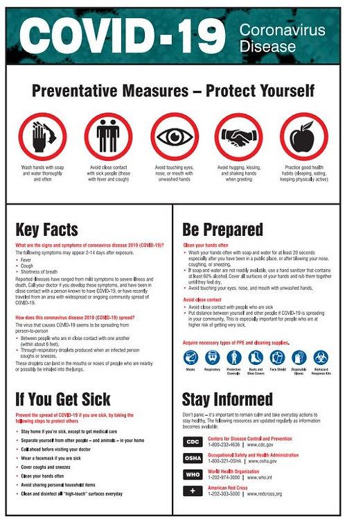 COVID-19 Preventative Measures Poster