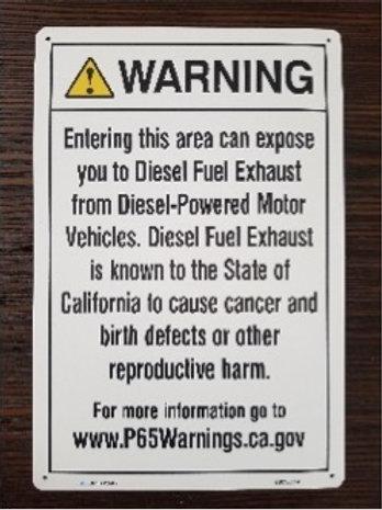 Prop 65 Diesel Fuel Sign