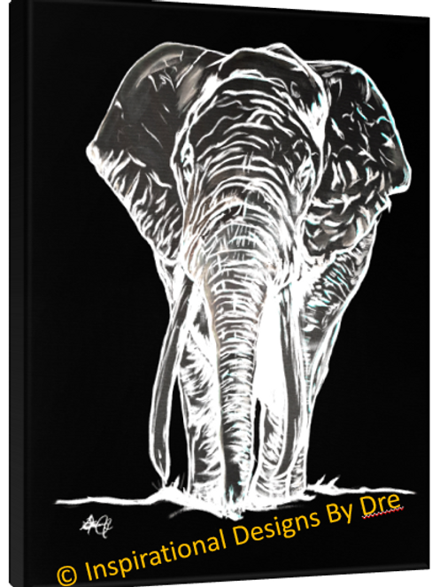 Inverted Black and White Elephant #1