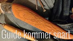 Dekoration på læderskede - KOMMER SNART
