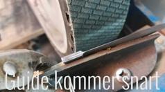 Udslibning af knivklinge på båndsliber - KOMMER SNART