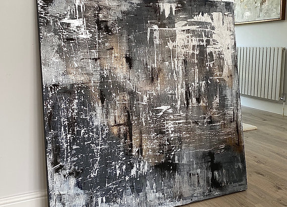 'Obsidian Skull' - 100 x 100 cm