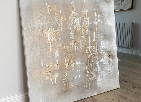 'Golden Swan' - 100 x 100 cm