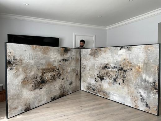 250 X 180 cm x 2 twin commissions