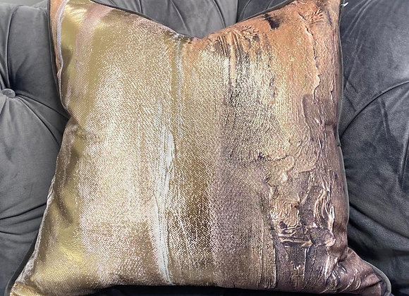 Metallic Gold Cushions (Set of 2)