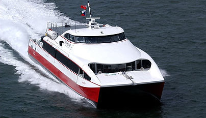 Red Funnel's Red Jet Service runs between Southampton and West Cowes.