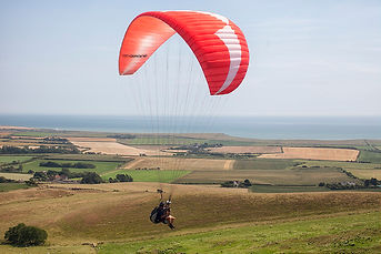 Paragliding on the Isle of Wight.