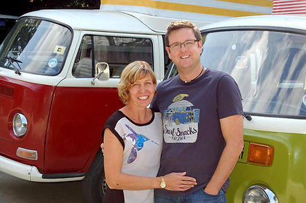 Will and Jubee the owner operators of Isle of Wight Campervan Holidays