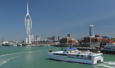 The Wightlink passenger ferry service from Portsmouth to Ryde.