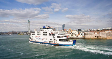 The Wightlink Car Ferry entering Portsmouth.