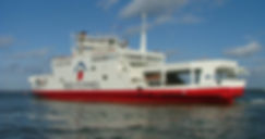 The Red Funnel Car Ferry runs between East Cowes and Southampton.