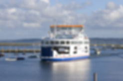 The Wightlink Car Ferry service that operates betweeYarmouth and Lymington