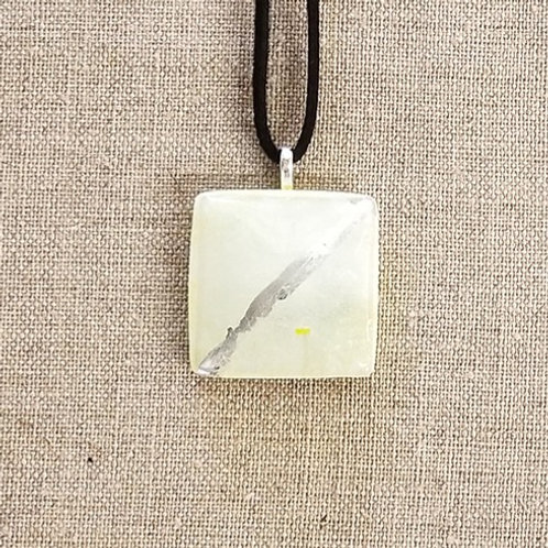 Yellow Glass Square Pendant