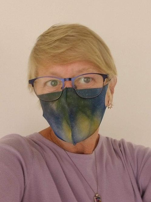 """Blue Glass Series"" Neoprene Soft Fabric Face Mask"