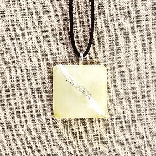 Yellow Glass Square Pendant