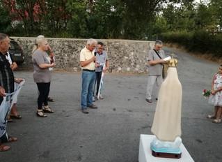 4 - 13 agosto 2017: la statua della Madonna di Fatima è a Selvapiana