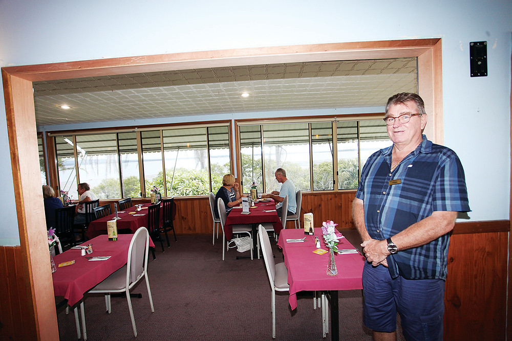Club Macleay chairman Rod Gallagher and the newly opened areas.