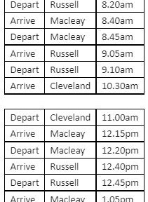 Additional Ferry Services.