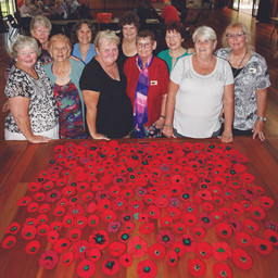 MACLEAY ISLAND CRAFT LADIES CONTRIBUTE TO ANZAC 'POPPY' EFFORT