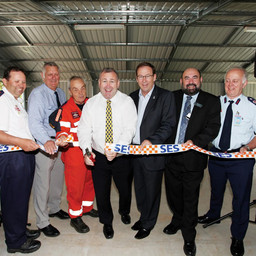MINISTER OPENS RUSSELL ISLAND SES FACILITY