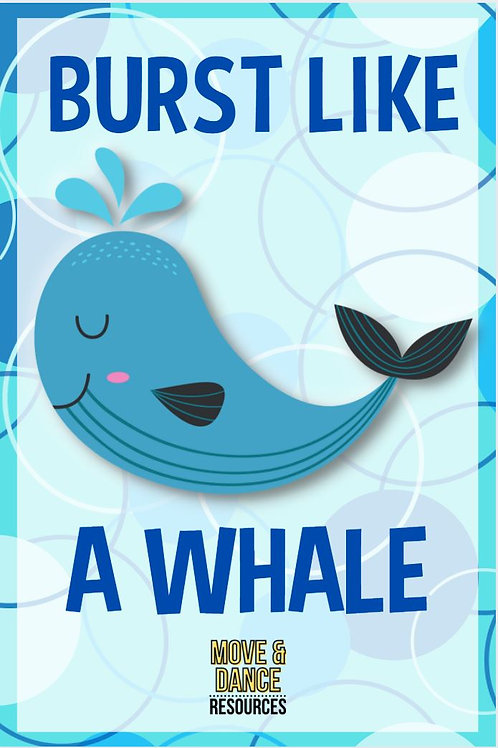Ocean Animals Movement Cards-Large
