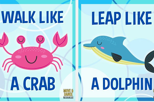 Ocean Animal Movement Cards-Small